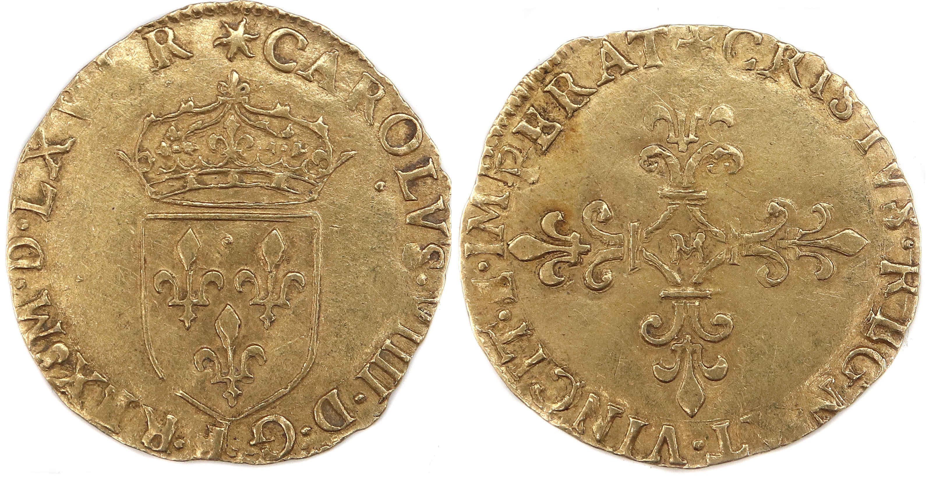 CHARLES VIIII-ECU OR-1566-TOULOUSE