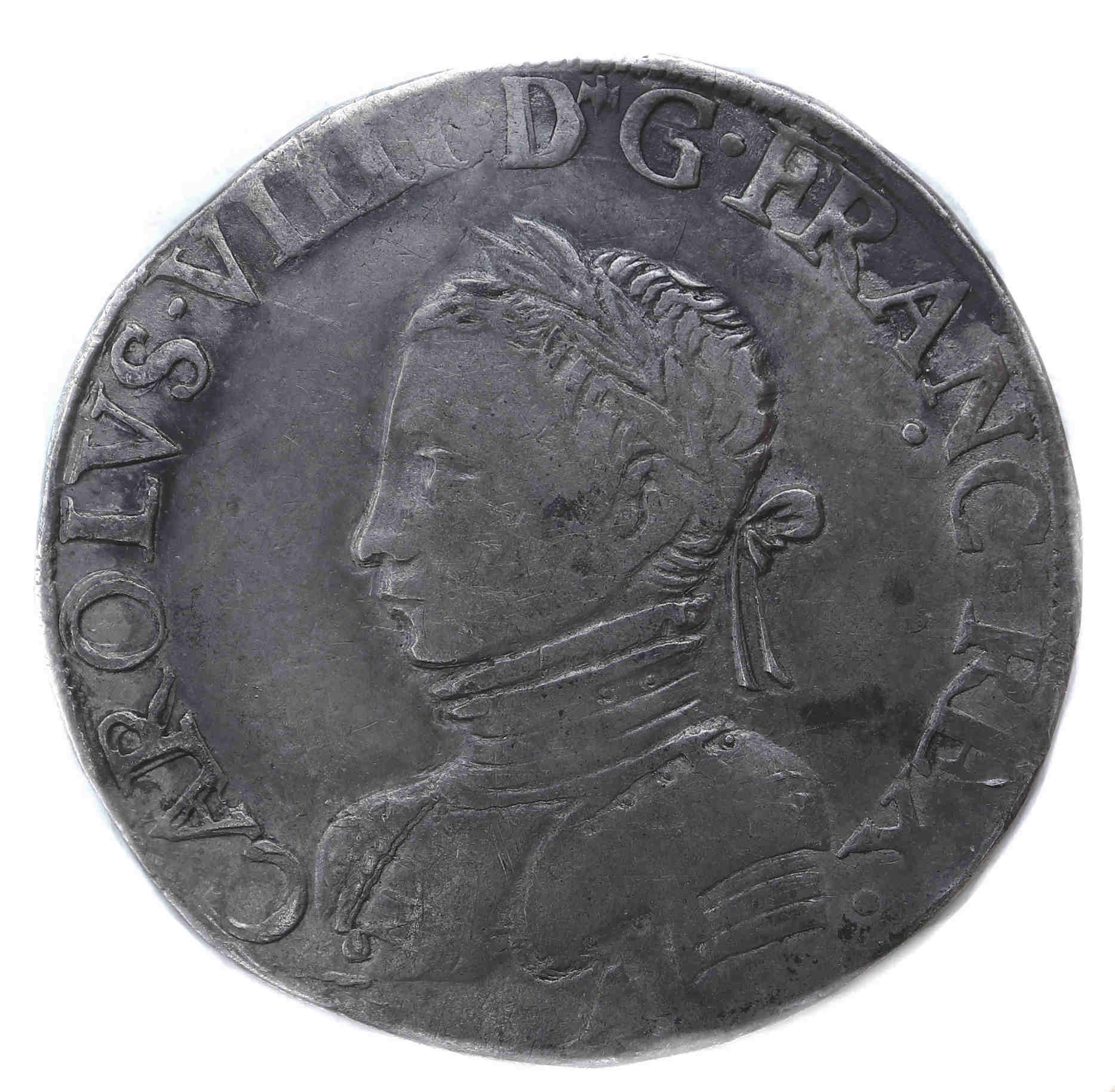CHARLES IX TESTON 1562 PARIS droit