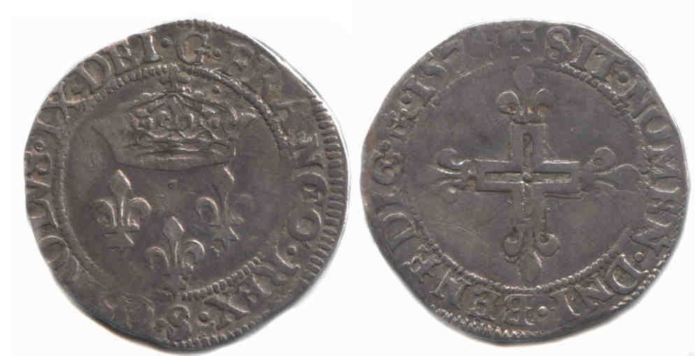Monnaies royales Double sol 1574