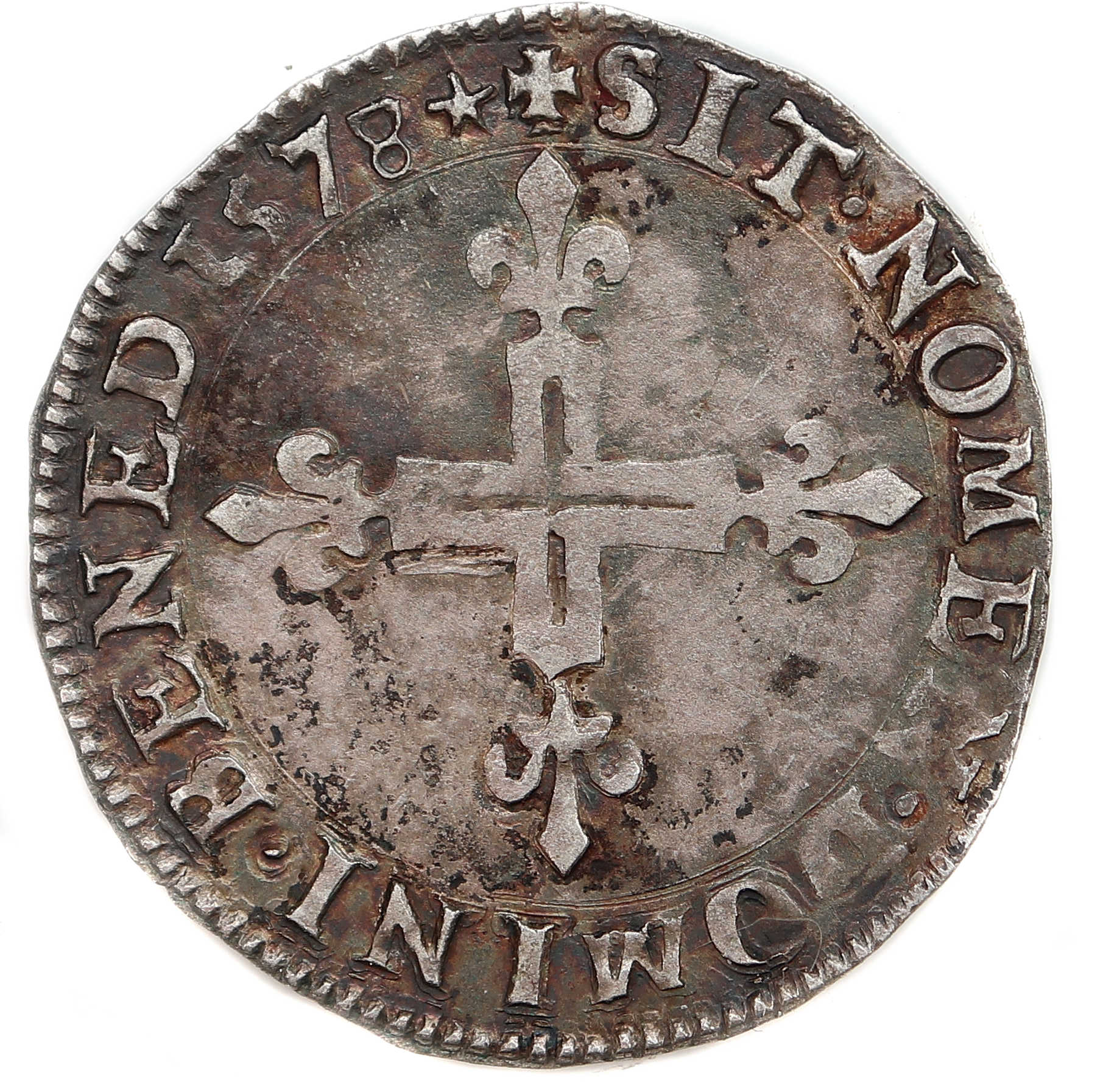 Monnaies HENRI III-double sol-15748-Poitiers-REVERS