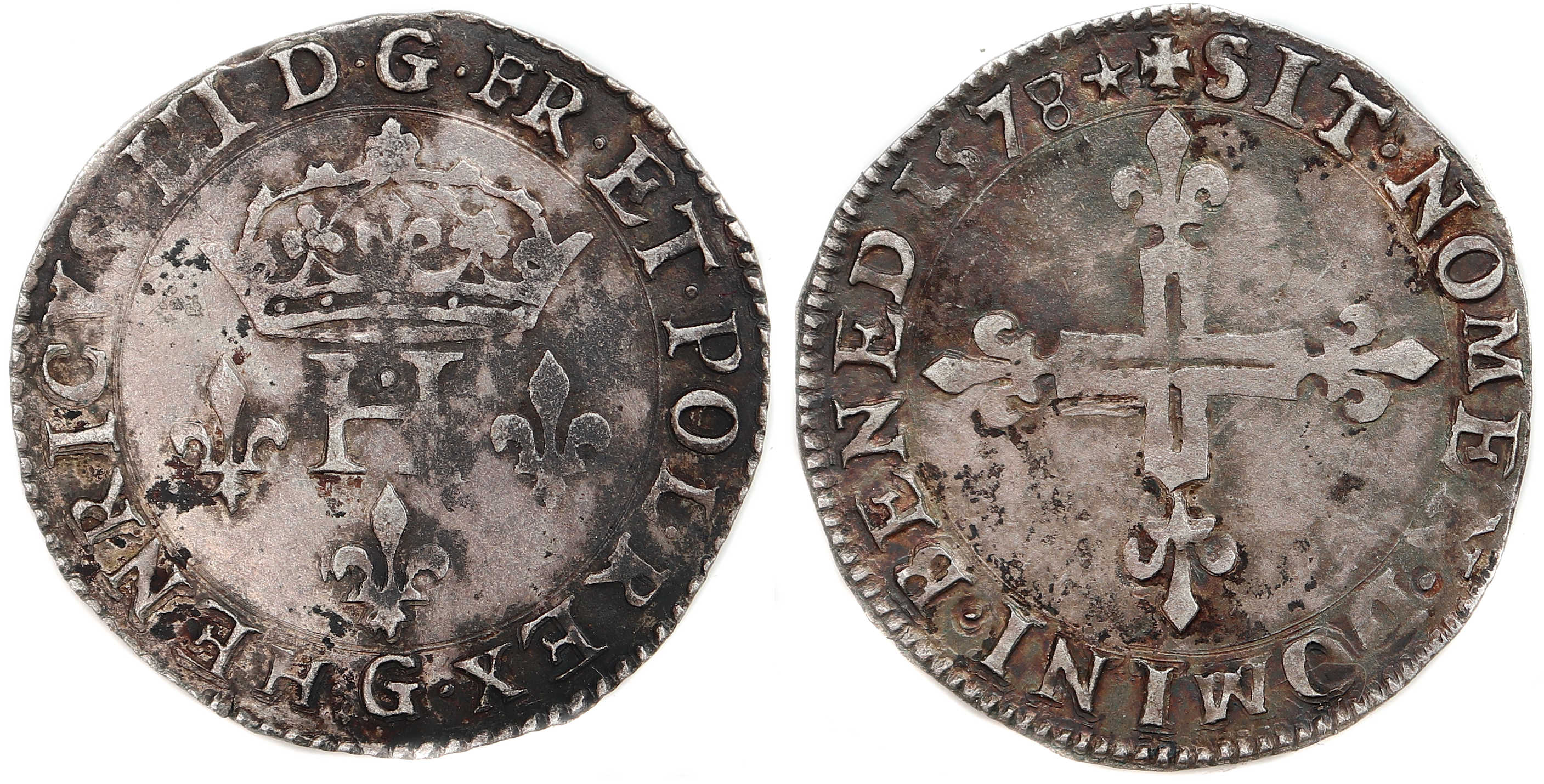 Monnaies henri III-DOUBLE SOL-1578-POITIERS