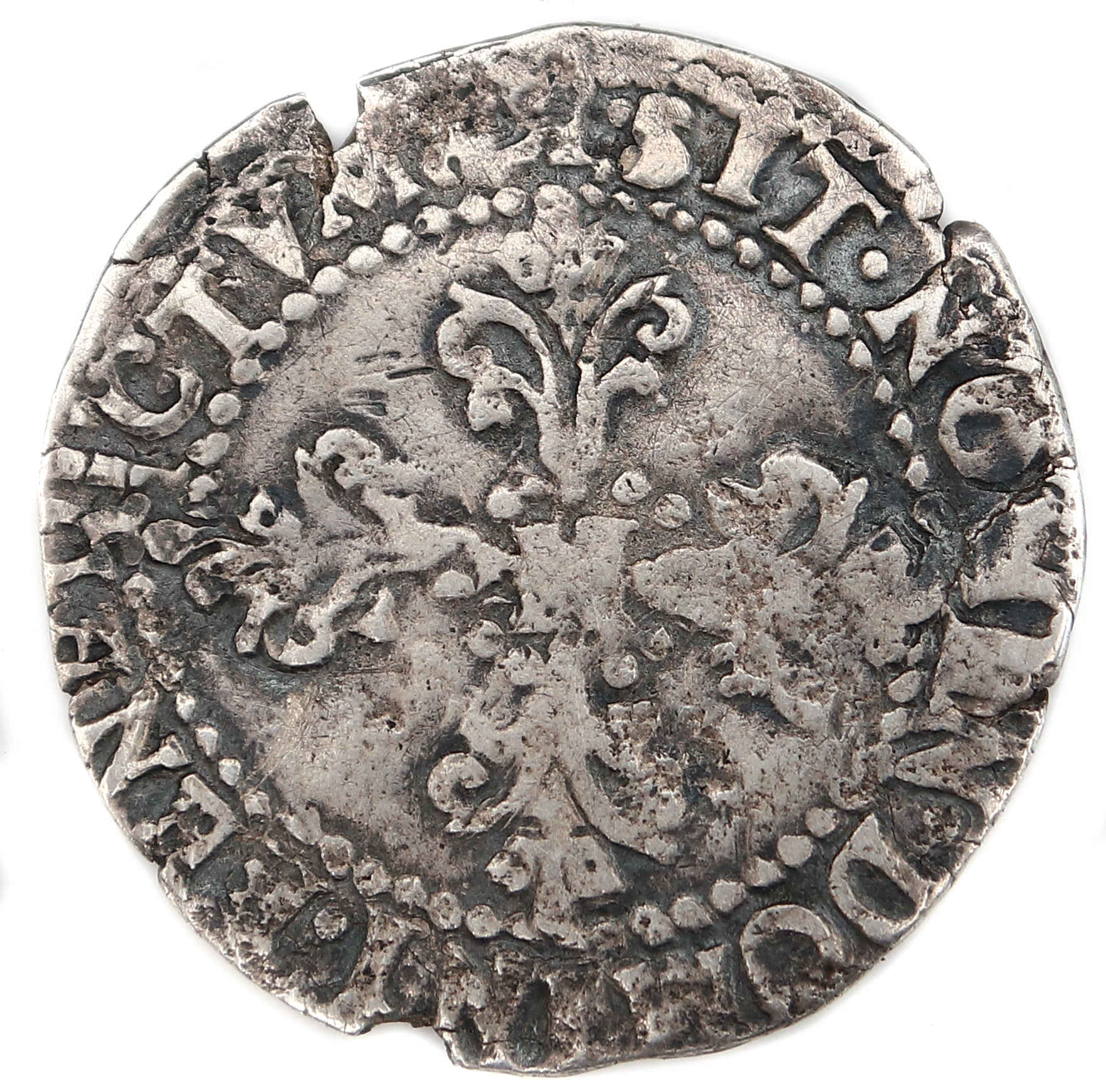 HENRI III QUART FRANC 1588 BORDEAUX REVERS