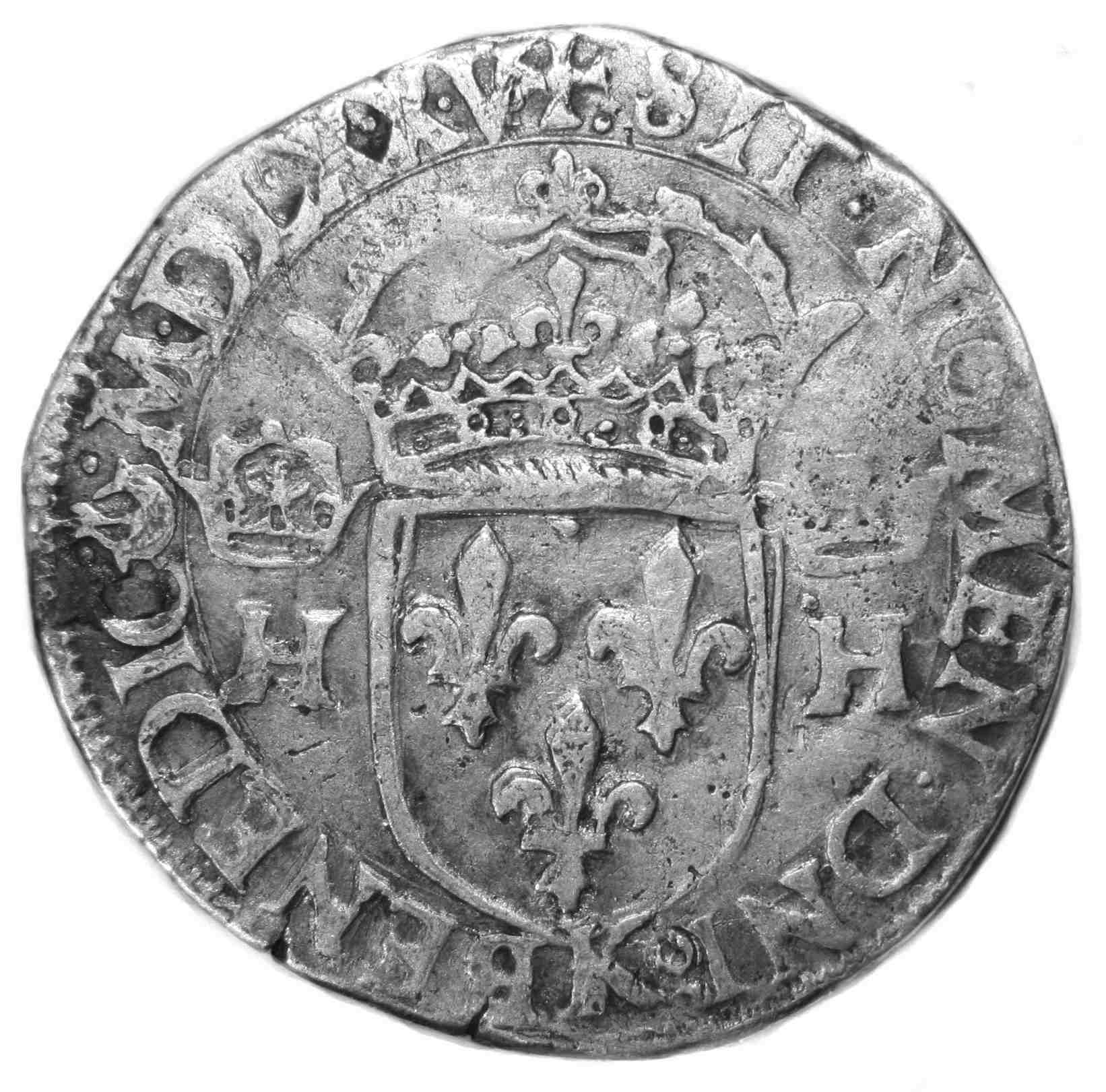 HENRI III TESTON 1575 BORDEAUX REVERS
